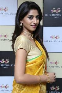 Actress Varshini Sounderajan Silk Saree Photos