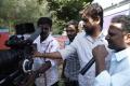 M.Rajesh at Varutha Padatha Valibar Sangam Movie Working Photos