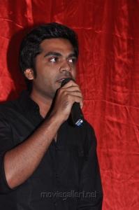 Simbu at Varuvan Thalaivan First Look Launch Stills