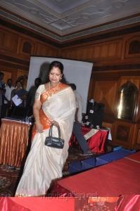 Telugu Actress Prabha at Varuvan Thalaivan First Look Launch Stills