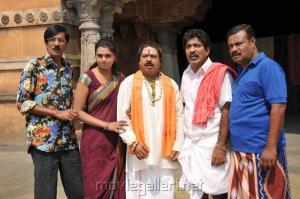 Charlie,Ilavarasu,Pandiarajan,Manobala,Abhinayasri in Varuvan Thalaivan Movie Stills