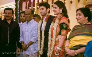Rajini, Latha Rajinikanth at Vasanth Kumar Rishitha Wedding Reception Stills