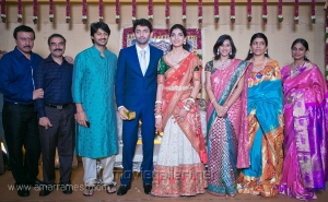 Srikanth with wife Vandana at Vasanth Rishitha Wedding Reception Stills