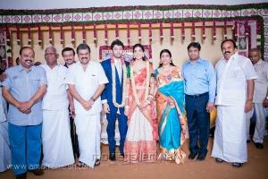 GK Vasan at Vasanth Rishitha Wedding Reception Stills