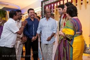 Rajinikanth at Vasanth Rishitha Wedding Reception Stills