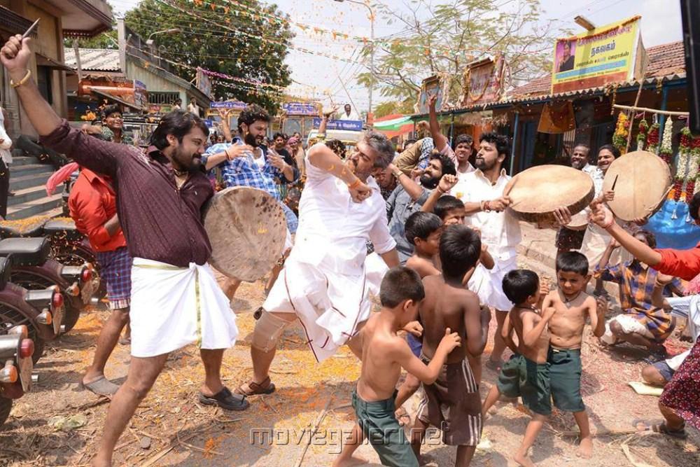 Actor Ajith At Veeram Movie Stills