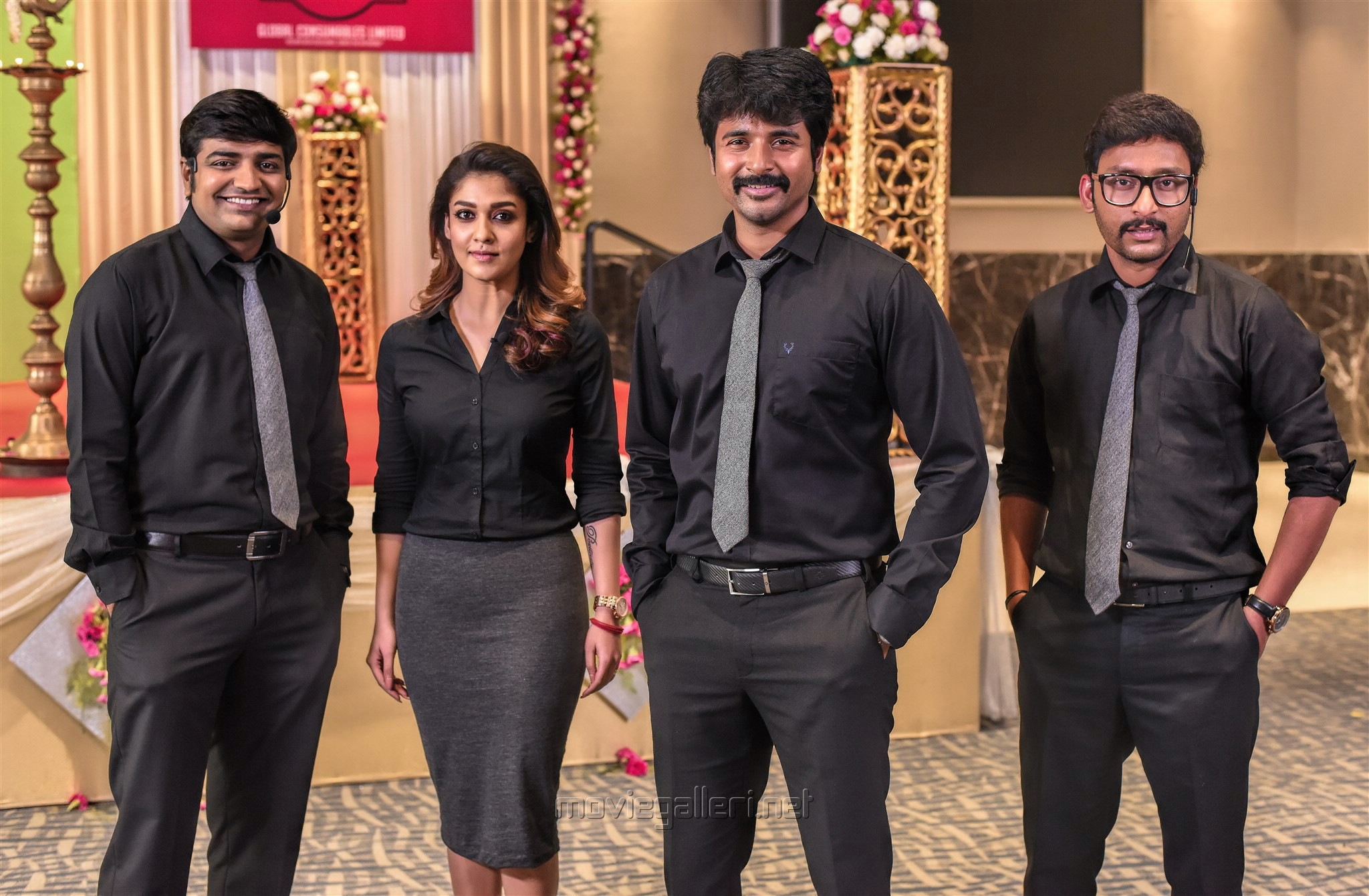 Sathish, Nayanthara, Sivakarthikeyan, RJ Balaji in Velaikkaran Movie Stills