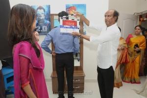 Soundarya, Dhanush, Rajinikanth @ Velaiyilla Pattathari 2 Movie Pooja Stills