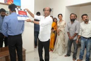 Dhanush, Rajinikanth @ Velaiyilla Pattathari 2 (VIP 2) Movie Pooja Stills