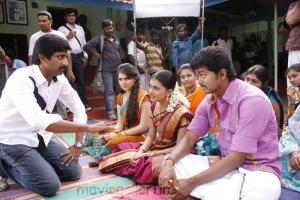 Vijay, Jayam Raja, Hansika @ Velayutham Movie On Location