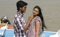 S.Sathish, Deepti Nambiar in Vellai Kagitham Movie Stills