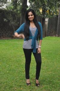 Actress Aarushi @ Velmurugan Borewells Team Interview Photos