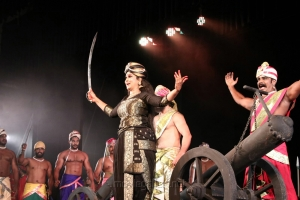 Manimekalai Sharma's Velu Nachiyar Stage Play Photos