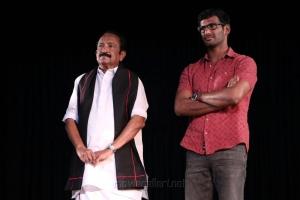 Vaiko & Vishal @ Velu Nachiyar Stage Play Photos