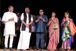 Vijayakumar, Vaiko, Kasthuri, Manimekalai Sharma @ Velu Nachiyar Stage Play Photos