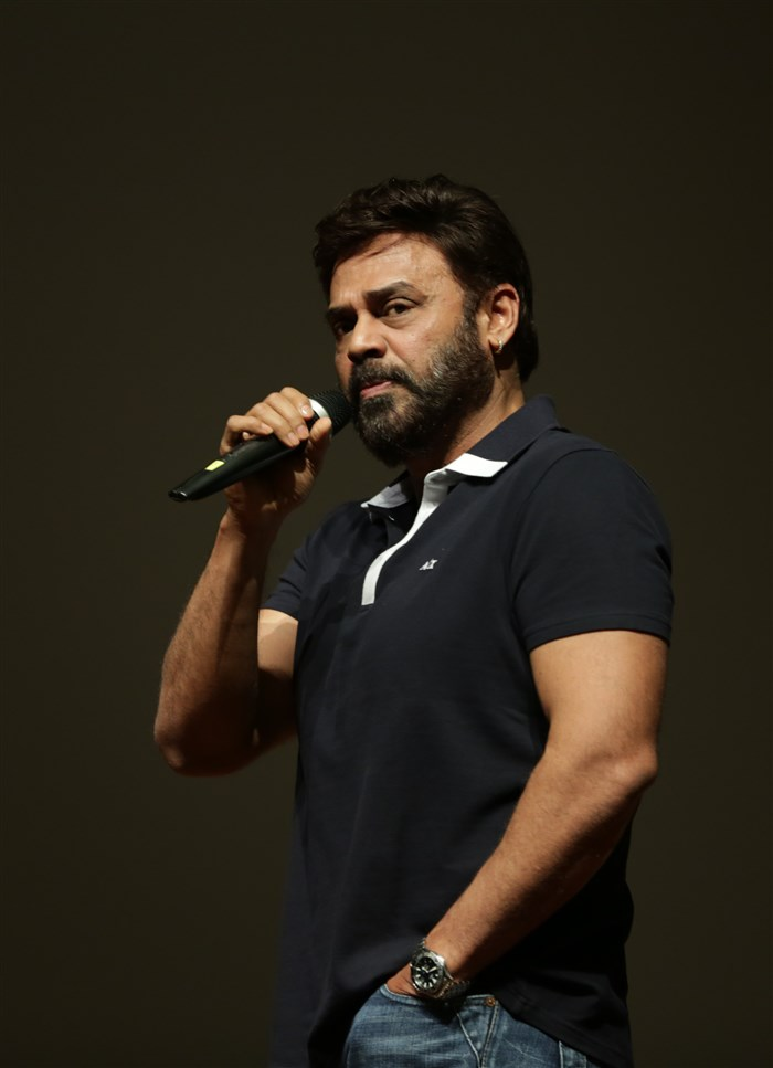 Victory Venkatesh at BITS Pilani Hyderabad Campus for Guru Movie Promotions