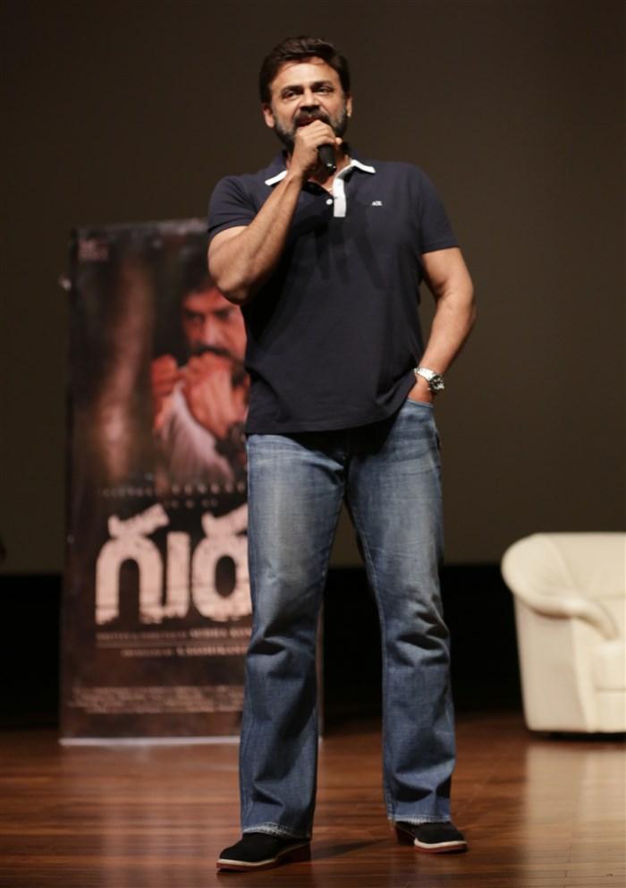 Victory Venkatesh at BITS Pilani Hyderabad Campus for Guru Movie Promotions