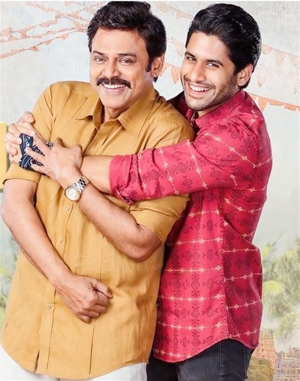 Venkatesh, Naga Chaitanya in Venky Mama Movie Stills