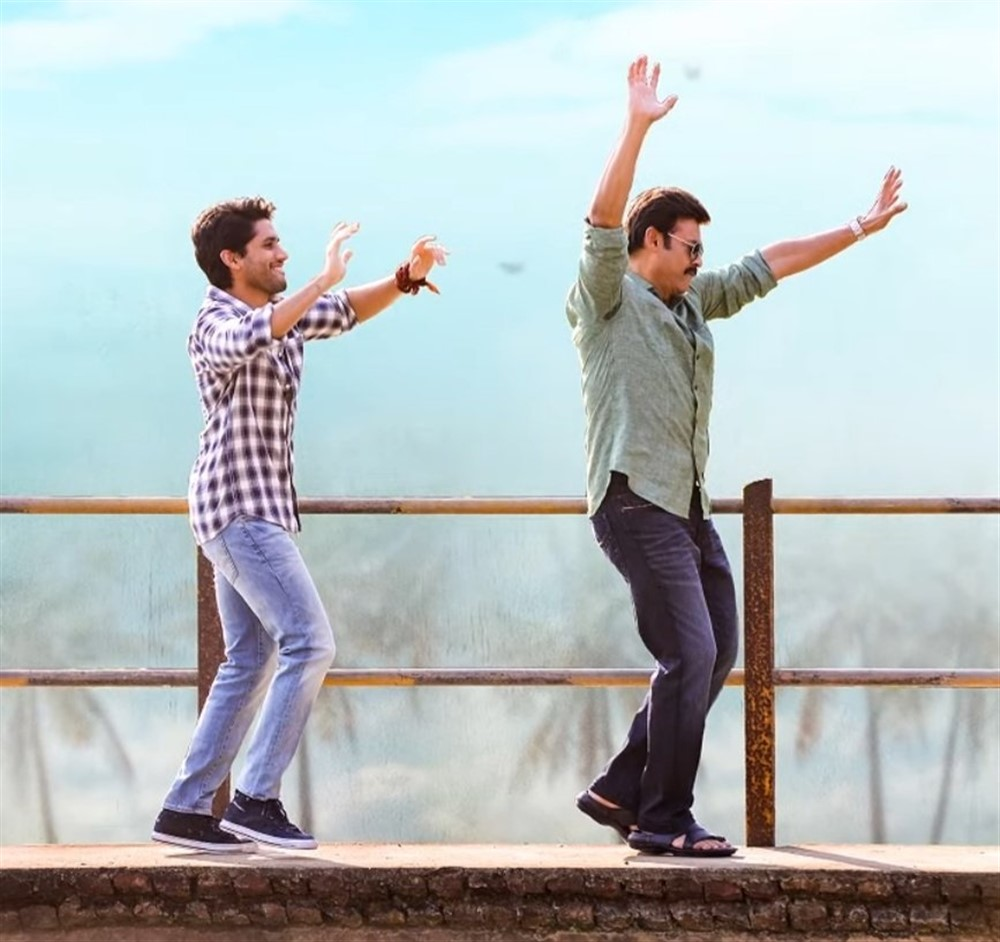 Naga Chaitanya, Venkatesh in Venky Mama Movie Stills