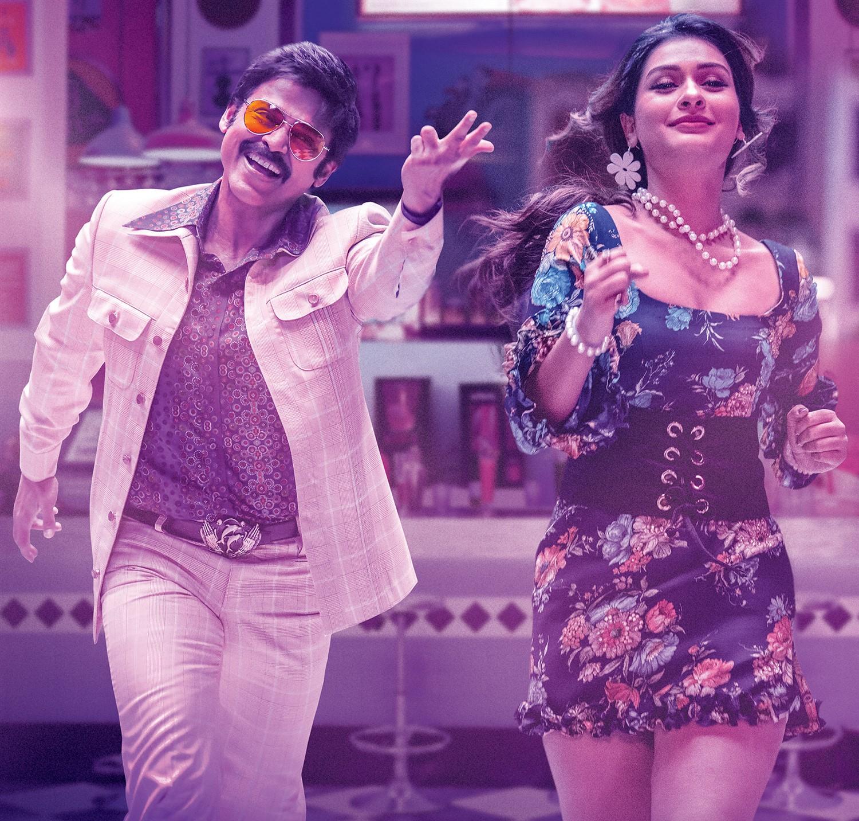Venkatesh, Payal Rajput in Venky Mama Movie Stills