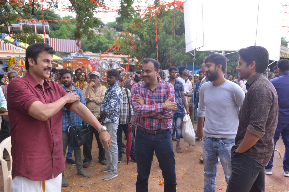 Venkatesh, KS Ravindra @ Venky Mama Movie Working Stills