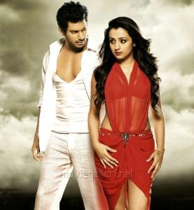 Vishal Krishna, Trisha Krishnan in Vetadu Ventadu Telugu Movie Stills