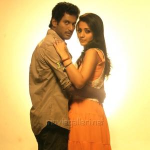 Vishal Krishna, Trisha Krishnan in Vetadu Ventadu Movie Stills