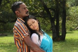 Vidiyal Raju, Udhayathara in Vettaiyaadu Movie Stills