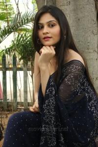 Tamil Actress Vibha Natarajan Hot Transparent Saree Photos