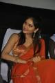 Mathil Mel Poonai Actress Vibha Natarajan in Orange Saree Pics