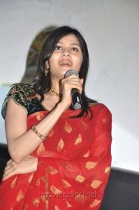 Actress Vibha Natarajan at Mathil Mel Poonai Audio Launch
