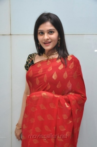 Beautiful Vibha Natarajan in Red Saree Stills