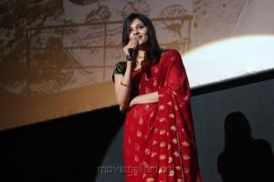 Tamil Actress Vibha in Red Saree Photos