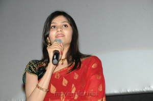 Vibha Natarajan in Red Saree Photos