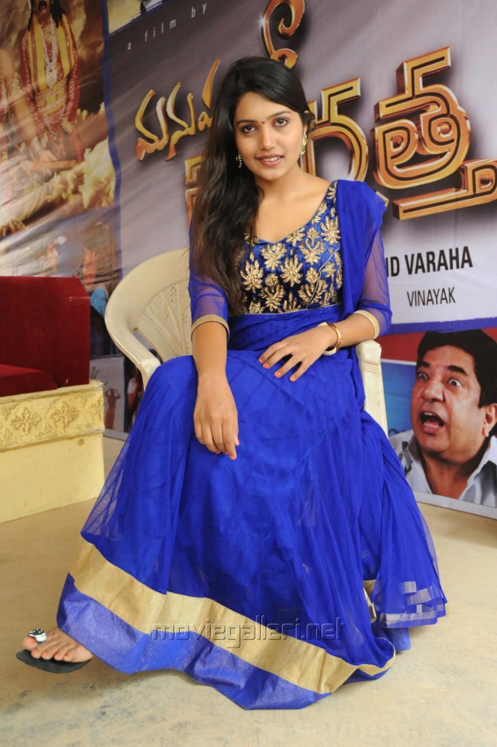 Picture 558120 | Telugu Actress Vidharsha in Blue Salwar ...