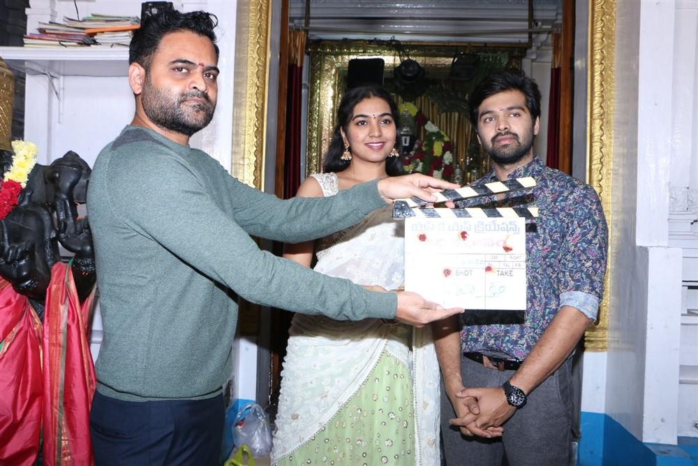Praveen Sattaru, Shivathmika, Adith Arun @ Vidhi Vilasam Movie Opening Stills