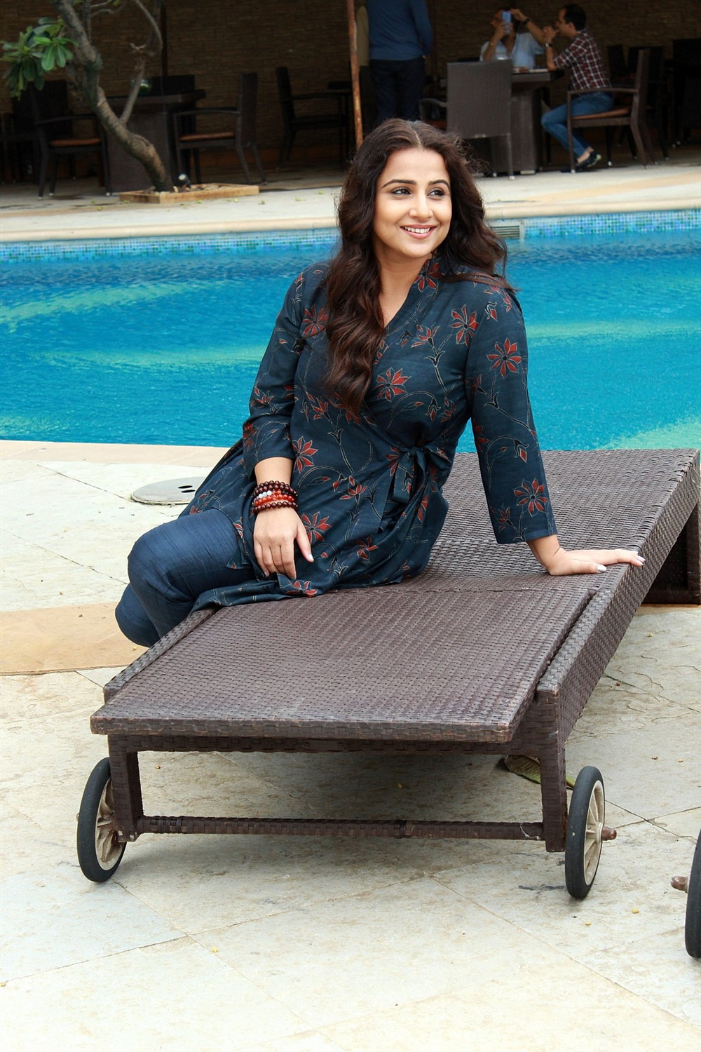 Actress Vidya Balan New Pics @ Mission Mangal  Media Interactions