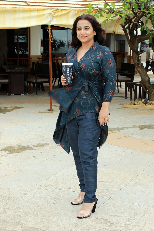 Actress Vidya Balan Pics @ Mission Mangal Promotions