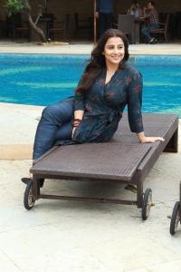Actress Vidya Balan New Pics @ Mission Mangal  Media Interactions