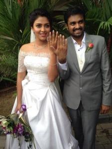 Actress Amala Paul Director Vijay Engagement Photos