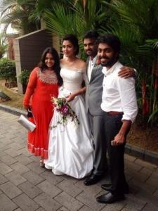 GV Prakash Kumar, Saindhavi @  Vijay Amala Paul Engagement Photos