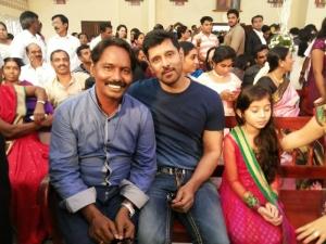 Vikram, Sara @ Director Vijay Amala Paul Engagement Photos