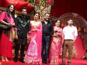 Anushka, Vikram, Saranya Ponvannan @ Director Vijay Amala Paul Engagement Photos