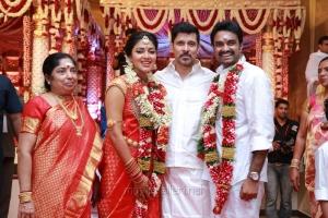 Actor Vikram @ Vijay Amala Paul Marriage Photos