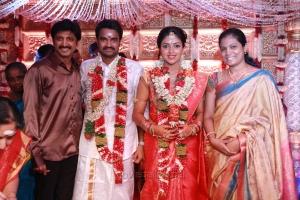 M.Raja @ Director Vijay Amala Paul Marriage Photos
