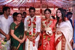 Vijay TV Ramya @ Director Vijay Amala Paul Marriage Photos