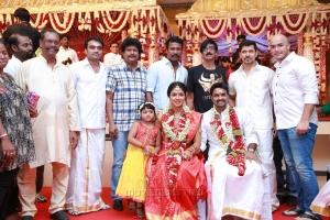 Udhaya, Namonarayanan, Samuthirakani, Manobala, Vikram @ Vijay Amala Paul Marriage Photos