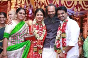 Nirav Shah with wife @ Al Vijay Amala Paul Marriage Photos