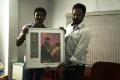 Actor Dhanush at Vijay Awards Nominees 2013 Painting Invitation Photos