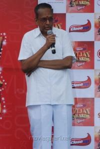 AVM Saravanan at Vijay Awards Rasigan Express Bus Flag Off Stills